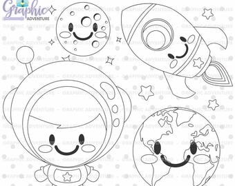 75%OFF - Astronaut Stamp, COMMERCIAL USE, Digi Stamp, Digital Image, Party Digistamp, Astronaut Coloring Page, Astronaut Graphic, Astronaut