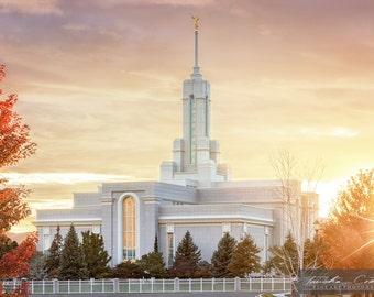 Mount Timpanogos Utah LDS Temple Photography Print