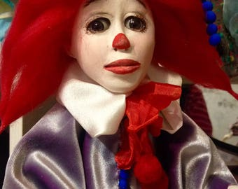 Collectible doll Clown Steve
