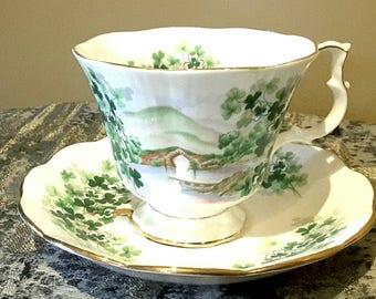 Royal Albert Ancestral Series Emerald Isle teacup and saucer