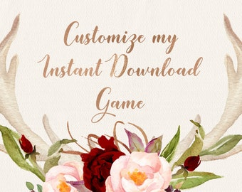 CUSTOMIZE my INSTANT DOWNLOAD, game customization, instant download customization, word changing, info adding