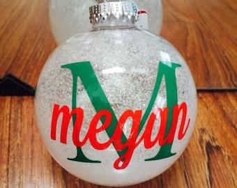 Custom monogrammed ornaments shatterproof