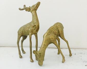 Vintage Brass Deer Pair gorgeous