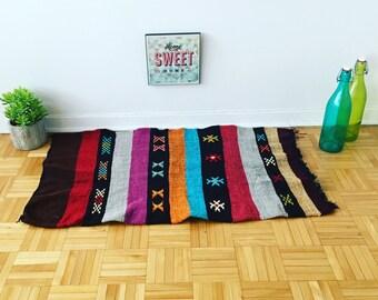 Moroccan rug, kilim rug, oriental rug, turkish rug «Colourful joy»