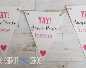 Hen Party Decoration, Yay Same Penis Forever, Hen Party Bunting, Hen Party Banner, Bridal Shower Banner, Bride To Be Banner, Hen Party Favor