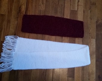 handmade knit scarves