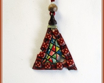 Handmade jewelry pendant, contemporary jewelry, pendant, multicolored pendant, Christmas gift, boho pendant, gift for woman,handmade pendant