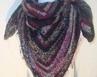 Scarf shawl black beauty