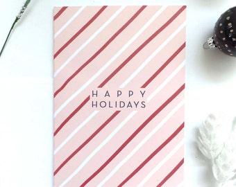 Happy Holidays Post Card Set, Illustrated Christmas Cards, Holiday Post Card Set, Happy Holidays Card Handmade, Happy Holidays Invitation