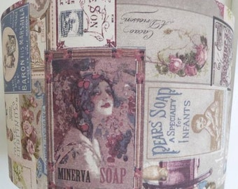 Vintage adverts fabric Lamp Shade