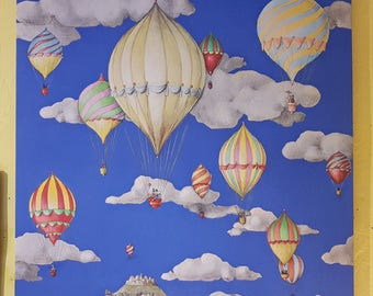 Balloons on canvas