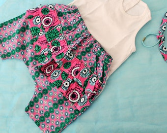 Short baby girl ELIA fabric African wax