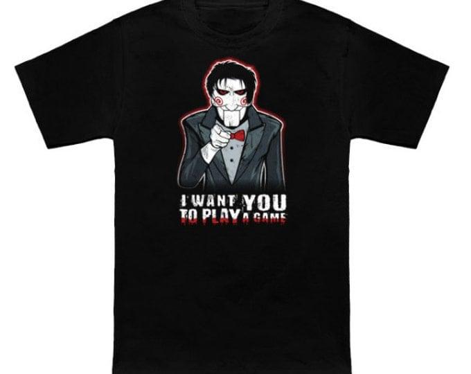 Uncle Jigsaw Wants You Geek T-Shirt Uncle Sam/Saw Mashup Funny Parody Nerd Pop Culture Horror Shirt