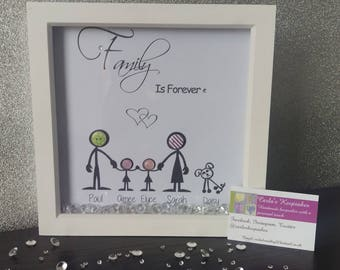 Family Stickman Frame (Personalised)