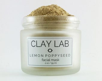 LEMON POPPYSEED Clay Facial Mask
