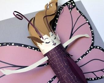 Sophia Paper Butterfly Fairy Art