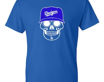 Los Angeles Dodgers T-Shirt // Dodgers Sugar Skull T-Shirt // Dodgers T-shirt