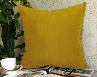 Mustard Pillow, Mustard Velvet Pillow, Mustard Velvet Pillow Cover, Mustard Velvet Decorative Pillow,  Mustard Couch Pillow, Mustard Pillows