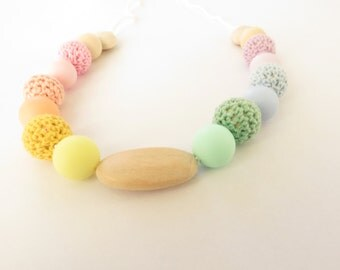 "Nursing necklace ""RAINBOW"""