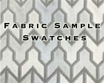 Fabric Sample Swatches - Upholstery Fabric - Pillow Fabric - Drapery Fabric - Velvet Fabric, Chenille Fabric, Vinyl Fabric, Woven Fabric