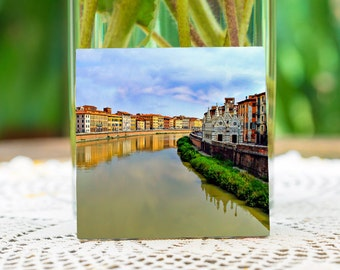 Arno river Florence Italy.