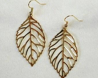 Large Lovely Leaf earrings