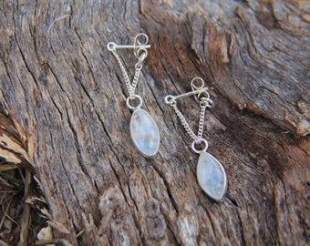 Marquez Earrings Moonstone Earrings, Sterling Silver Earrings, Boho Earrings, Gypsy Earrings, Dangle Earrings, Sunsara Jewellery