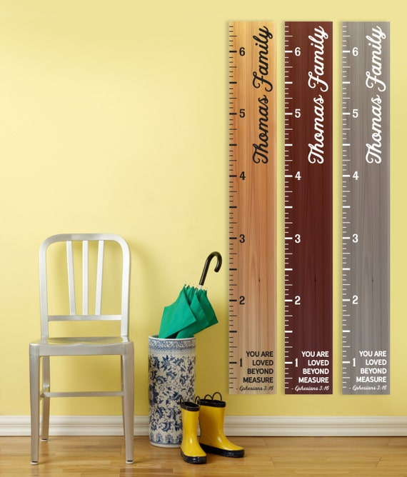 Personalized Growth Chart Wood 20 Images Last Name With Est