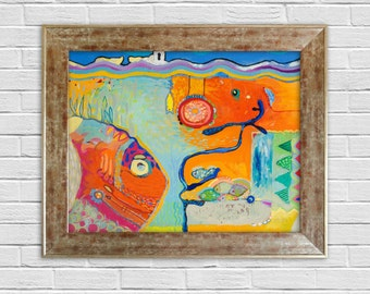Abstract Oil Painting, Canvas Art, Modern Painting, Large & Small Oil Painting, Original Art, Modern Art, Abstract Art, Surrealism