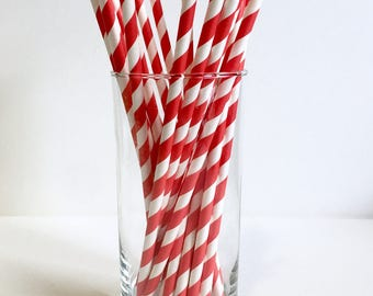 Carnival Party Straws - Carnival Party Supplies - Carnival Theme - Kids Party Decor - Red Party Supplies - Dr Seuss Party Supplies