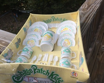 1983 Cabbage Patch Kids Tea Service in box Cabbage Patch Doll Vintage Toys Vintage Dolls