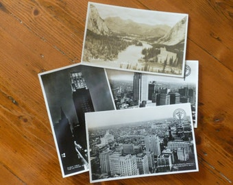 Vintage Canadian Postcards, Collectible Postcard, Toronto and Banff Postcards, Collectible Ephemera, The Canadian Bank of Commerce