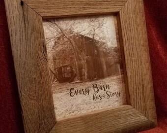 8x10 Reclaimed Barnwood Picture Frame