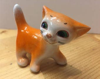Vintage Orange Cat Ornament Cute and Kitsch