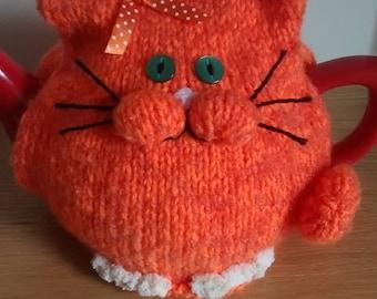 Ginger cat tea cosy