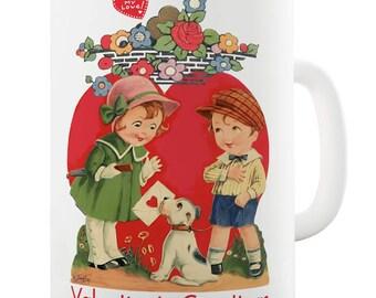 Vintage Retro Valentine's Sweethearts Ceramic Mug