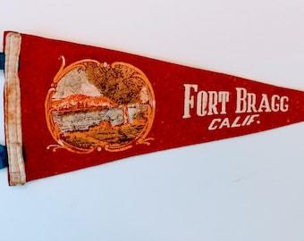 Fort Bragg, California - Vintage Pennant