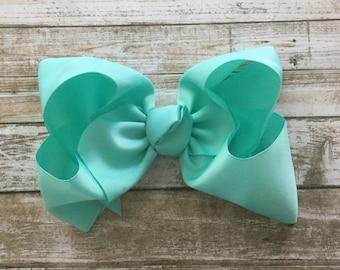 Mint Extra Large Hair Bow, XL Hair Bow, Jumbo Hair Bow, Large Hair Bow, mint hair bow, mint ...