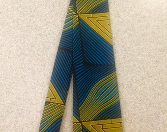 Unique Black and Blue African Tie