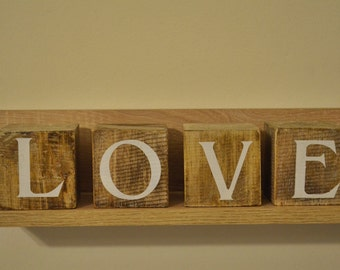 Wooden Love cubes / love blocks / Loveblocks / Gift for her / Gift for him / wedding signs / Rustic home decor
