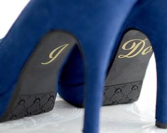 Wedding shoe decal, I Do decal, I do stickers, Bride decal, Wedding decals, Wedding DIY, DIY wedding, Gold wedding decor