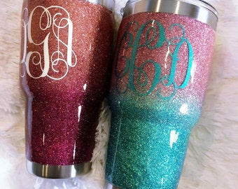 Ombre Glitter YETI Tumbler / Customized YETI Tumbler