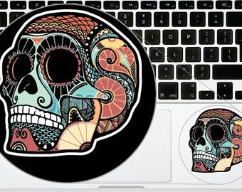 Sugar Skull Phone Decal Stickers Version 15 Day of the Dead Printed for iPhone Samsung Trackpad Macbook Laptop Calavera Sticker Decals
