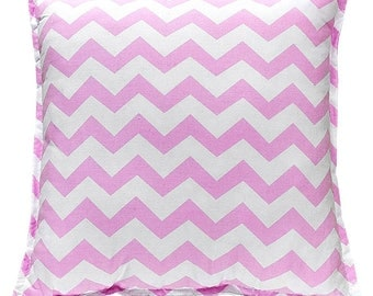 Pillow Square - Pink ZigZag