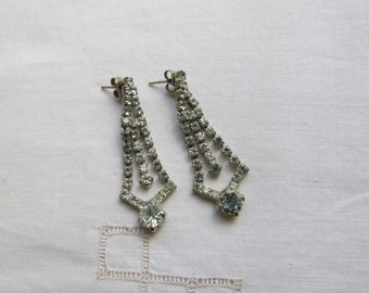 Vintage very sparkly crystal drop earrings