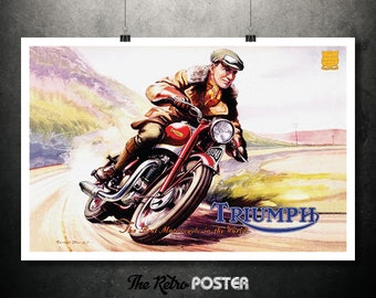 Triumph Speed Twin, The Best Motorcycle In The World by Roland Davies, 1948 - Bike, Motorcycle Gifts, Motorcycle Art, Motorbike, Travel
