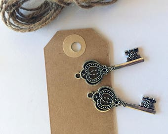 Wedding key tag placeholders (set of 10)