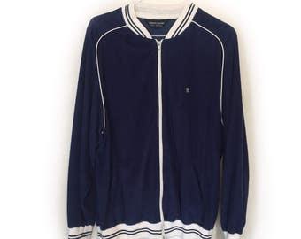 Blue Velour Jacket by Pierre Cardin - Vintage (1990s)