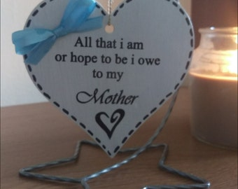 Beatutiful hanging heart plaques, mum, perfect for mothers day, birthdays etc
