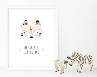 Dream Big Little One - Tribal Prints - Changeable Characters